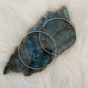 Textured hoop earrings!